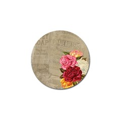 Flower Floral Bouquet Background Golf Ball Marker (4 pack)