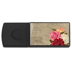Flower Floral Bouquet Background USB Flash Drive Rectangular (2 GB)