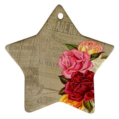 Flower Floral Bouquet Background Star Ornament (two Sides)