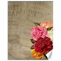 Flower Floral Bouquet Background Canvas 18  x 24
