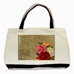Flower Floral Bouquet Background Basic Tote Bag (two Sides)