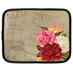 Flower Floral Bouquet Background Netbook Case (Large)