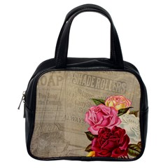 Flower Floral Bouquet Background Classic Handbags (one Side)