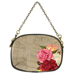 Flower Floral Bouquet Background Chain Purses (one Side)