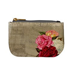 Flower Floral Bouquet Background Mini Coin Purses