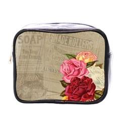 Flower Floral Bouquet Background Mini Toiletries Bags