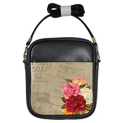 Flower Floral Bouquet Background Girls Sling Bags