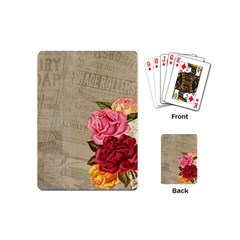 Flower Floral Bouquet Background Playing Cards (Mini)