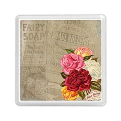 Flower Floral Bouquet Background Memory Card Reader (Square)