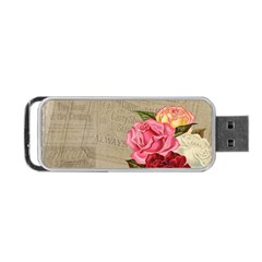 Flower Floral Bouquet Background Portable USB Flash (Two Sides)