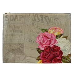 Flower Floral Bouquet Background Cosmetic Bag (xxl)
