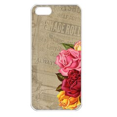 Flower Floral Bouquet Background Apple iPhone 5 Seamless Case (White)