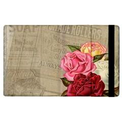 Flower Floral Bouquet Background Apple iPad 3/4 Flip Case