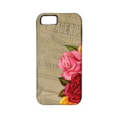 Flower Floral Bouquet Background Apple iPhone 5 Classic Hardshell Case (PC+Silicone)