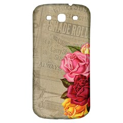 Flower Floral Bouquet Background Samsung Galaxy S3 S III Classic Hardshell Back Case