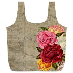 Flower Floral Bouquet Background Full Print Recycle Bags (l)