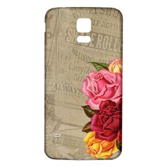 Flower Floral Bouquet Background Samsung Galaxy S5 Back Case (White)