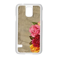 Flower Floral Bouquet Background Samsung Galaxy S5 Case (white)
