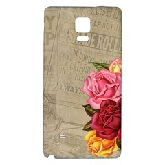 Flower Floral Bouquet Background Galaxy Note 4 Back Case