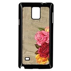 Flower Floral Bouquet Background Samsung Galaxy Note 4 Case (black)