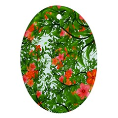 Flower Background Backdrop Pattern Ornament (oval)