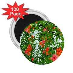 Flower Background Backdrop Pattern 2.25  Magnets (100 pack)