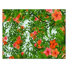 Flower Background Backdrop Pattern Rectangular Jigsaw Puzzl