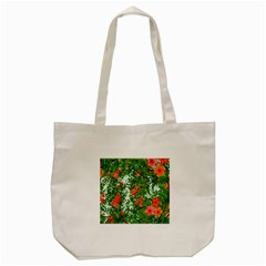 Flower Background Backdrop Pattern Tote Bag (Cream)