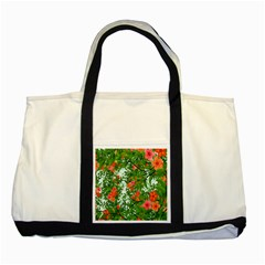 Flower Background Backdrop Pattern Two Tone Tote Bag