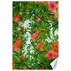 Flower Background Backdrop Pattern Canvas 24  x 36