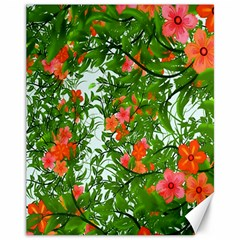 Flower Background Backdrop Pattern Canvas 11  x 14
