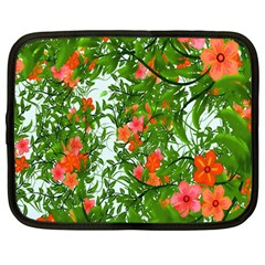 Flower Background Backdrop Pattern Netbook Case (Large)