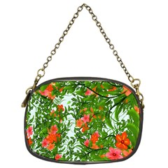 Flower Background Backdrop Pattern Chain Purses (two Sides)