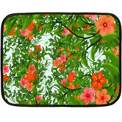 Flower Background Backdrop Pattern Fleece Blanket (Mini)