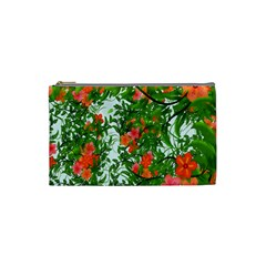 Flower Background Backdrop Pattern Cosmetic Bag (small)