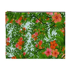 Flower Background Backdrop Pattern Cosmetic Bag (XL)