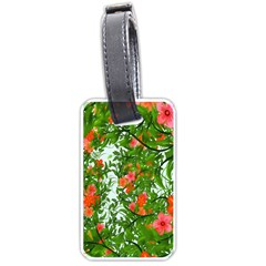 Flower Background Backdrop Pattern Luggage Tags (One Side)