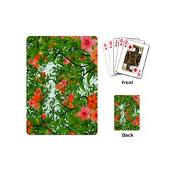 Flower Background Backdrop Pattern Playing Cards (Mini)