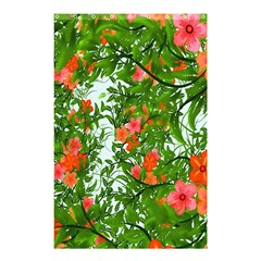 Flower Background Backdrop Pattern Shower Curtain 48  x 72  (Small)
