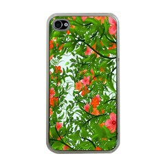 Flower Background Backdrop Pattern Apple iPhone 4 Case (Clear)