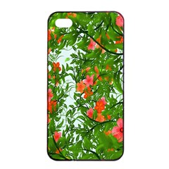 Flower Background Backdrop Pattern Apple iPhone 4/4s Seamless Case (Black)