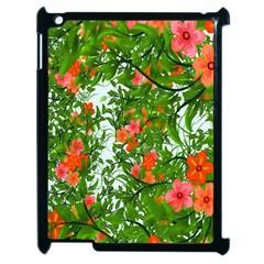 Flower Background Backdrop Pattern Apple iPad 2 Case (Black)