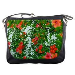 Flower Background Backdrop Pattern Messenger Bags
