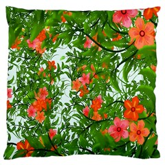 Flower Background Backdrop Pattern Large Cushion Case (two Sides)
