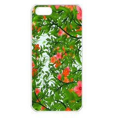 Flower Background Backdrop Pattern Apple iPhone 5 Seamless Case (White)