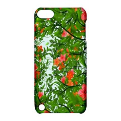 Flower Background Backdrop Pattern Apple iPod Touch 5 Hardshell Case with Stand