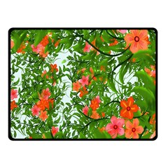 Flower Background Backdrop Pattern Double Sided Fleece Blanket (small)