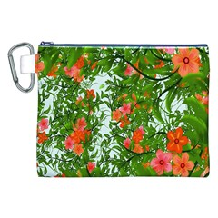Flower Background Backdrop Pattern Canvas Cosmetic Bag (xxl)