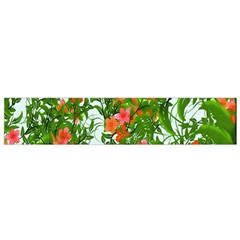 Flower Background Backdrop Pattern Flano Scarf (Small)