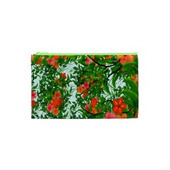 Flower Background Backdrop Pattern Cosmetic Bag (xs)